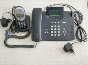 Schnurgebundenes Telefon mit Mobilteil Test